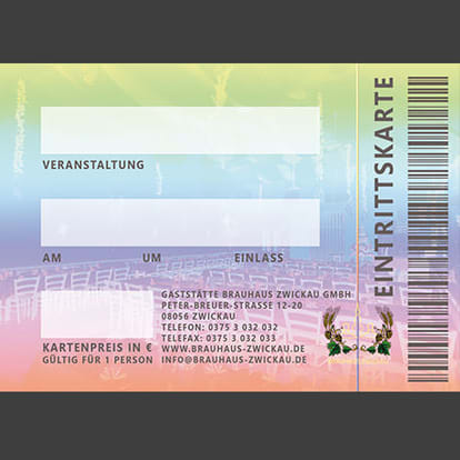 Graphic design Munich Entrance ticket