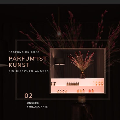 Webdesign Munich Parfums Uniques