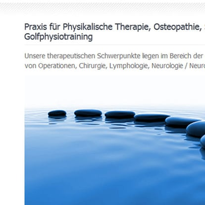 Webdesign Munich Osteopathy and Physiotherapy