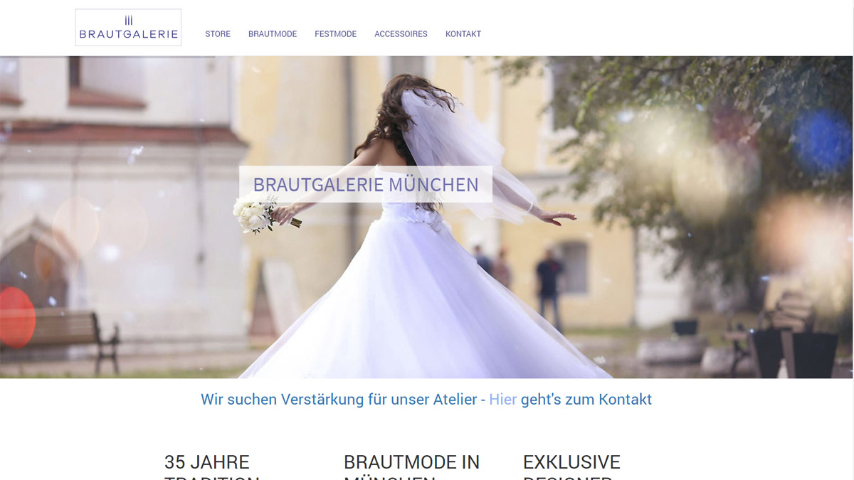Webdesign Munich bridal fashion store